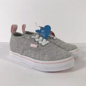 Vans Authentic Shimmer Jersey Grey Pink Sneakers